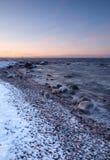 Mening naar Tallinn, extreme koude Stock Afbeeldingen