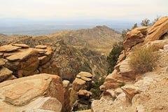 Mening naar Tucson van Windy Point Vista royalty-vrije stock afbeeldingen