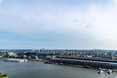 Mening over Amsterdam vanaf de bovenkant van vooruitzicht royalty-vrije stock foto's
