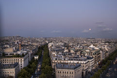 Mening over Avenue des Champs-Elysees Stock Foto