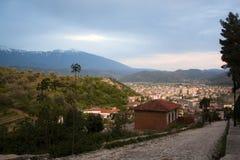 Mening over Berat, Albanië Royalty-vrije Stock Afbeeldingen