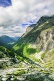 Mening over beroemde Trollstigen Stock Foto