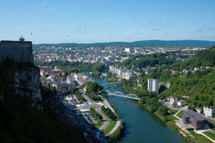 Mening over Besançon Stock Afbeelding