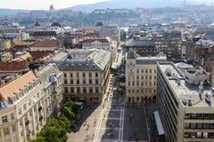 Mening over Boedapest van St. Stephen Basiliek. Hongarije royalty-vrije stock afbeelding