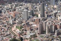 Mening over Bogota Stock Foto's
