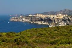 Mening over Bonifacio, Corsica Stock Fotografie