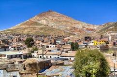 Mening over Cerro Rico in Potosi Royalty-vrije Stock Fotografie