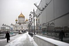 Mening over Christus de Kathedraal Moskou Rusland van de Verlosser Royalty-vrije Stock Foto's