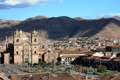 Mening over Cusco Royalty-vrije Stock Afbeelding
