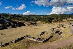 Mening over Cusco Peru met blauwe hemel en wolken Royalty-vrije Stock Afbeelding