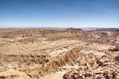 Mening over de Atacama-woestijn Royalty-vrije Stock Foto