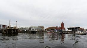 Mening over de Baai B van Cardiff royalty-vrije stock afbeelding