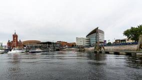 Mening over de Baai L van Cardiff royalty-vrije stock foto