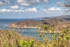 Mening over de baai van San Juan del Sur, Nicaragua Royalty-vrije Stock Foto's
