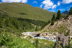 Mening over de bergen Royalty-vrije Stock Afbeelding