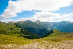 Mening over de bergen van de Pyreneeën, Spanje Stock Foto
