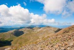 Mening over de bergen van de Pyreneeën, Spanje Stock Foto's
