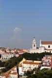 Mening over de daken van de stad van Lissabon Royalty-vrije Stock Afbeeldingen