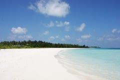 Mening over de Eilanden van de Maldiven van vliegtuig Royalty-vrije Stock Afbeeldingen