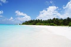 Mening over de Eilanden van de Maldiven van vliegtuig Royalty-vrije Stock Foto