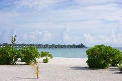 Mening over de Eilanden van de Maldiven van vliegtuig Royalty-vrije Stock Fotografie