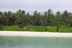 Mening over de Eilanden van de Maldiven van vliegtuig kust Royalty-vrije Stock Foto