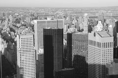Mening over Manhattan Stock Foto