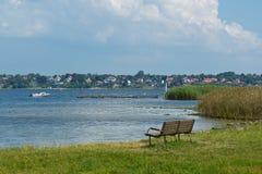 Mening over de fjord van Roskilde Stock Afbeeldingen