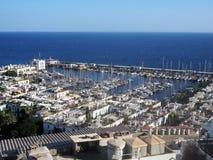 Mening over de haven in Puerto DE Mogan, Gran Canaria royalty-vrije stock foto
