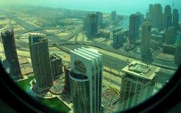 Mening over de Jachthaven van Doubai Royalty-vrije Stock Afbeeldingen