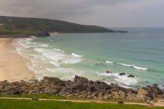 Mening over de Kust van Cornwall in het UK royalty-vrije stock afbeeldingen