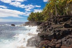 Mening over de kust van Na Pali van de sleep Kalalau Stock Afbeeldingen