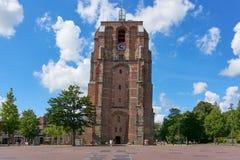 Mening over DE Oldehove in Leeuwarden Royalty-vrije Stock Afbeelding