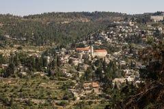 Mening over de oriëntatiepunten van Jeruzalem. Stock Foto