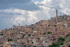 Mening over de oude stad van Mardin, Turkije royalty-vrije stock foto's