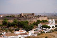 Mening over de oude stad van Portugal, Castro Marim, Portugal Royalty-vrije Stock Foto