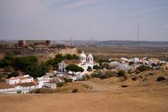 Mening over de oude stad van Portugal, Castro Marim, Portugal Royalty-vrije Stock Afbeeldingen