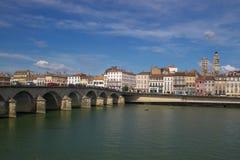 Mening over de Rhône en Macon Royalty-vrije Stock Fotografie