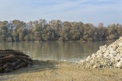 Mening over de rivier royalty-vrije stock fotografie