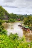 Mening over de Rivier Kwai. Stock Afbeelding