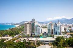 Mening over de stad van Nha Trang, Vietnam Stock Afbeeldingen