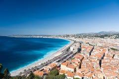 Mening over de stad van Nice Stock Fotografie