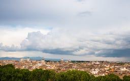 Mening over de stad van Rome, Italië Stock Foto