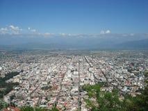 Mening over de stad van Salta (Argentinië) Stock Afbeeldingen