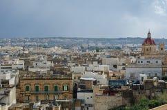 Mening over de stad van Victoria (Rabat) in Gozo Royalty-vrije Stock Foto's