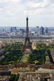 Mening over de Toren van Eiffel (Parijs, Frankrijk) Stock Fotografie