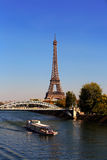 Mening over de Toren van Eiffel, Parijs, Frankrijk Royalty-vrije Stock Foto's