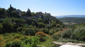 Mening over de vallei aan Gordes Stock Foto