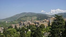 Mening over de vallei van Villa D'Este Stock Foto