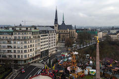 Mening over de winter Luxemburg, Europa stock afbeeldingen